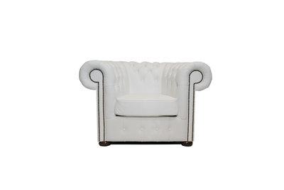 Chesterfield Armchair Class Leather | White | 12 jaar Guarantee