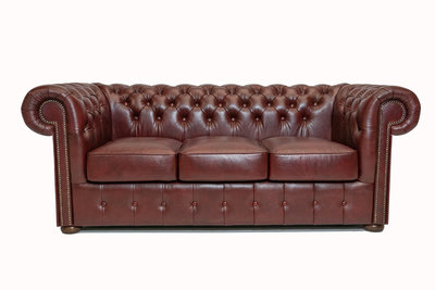 Chesterfield Sofa Class Leather | 3-Seater | Cloudy Red | 12 jaar Guarantee