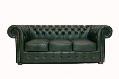 Chesterfield Sofa Class Leather | 3-Seater | Cloudy Green | 12 jaar Guarantee