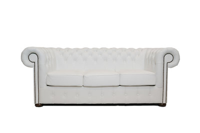 Chesterfield Sofa Class Leather | 3-Seater | White | 12 jaar Guarantee