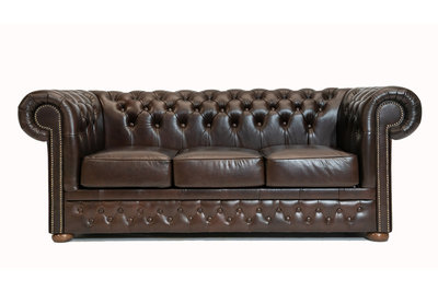 Chesterfield Sofa  First Class Leather | 3-Seater | Cloudy Brown Dark | 12 jaar Guarantee