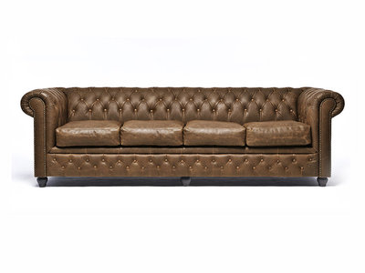 Chesterfield Sofa Vintage Leather | 4-seater  | Alabama C1059 | 12 years guarantee