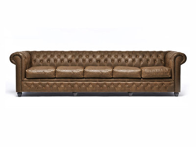 Chesterfield Sofa Vintage Leather | 5-seater  | Alabama C1059 | 12 years guarantee