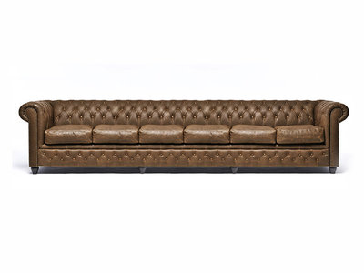 Chesterfield Sofa Vintage Leather | 6-seater  | Alabama C1059 | 12 years guarantee