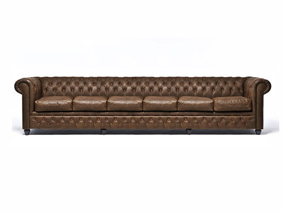 Chesterfield Sofa Vintage Leather | 6-seater  | C0869 | 12 years guarantee