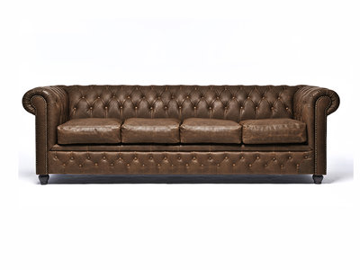 Chesterfield Sofa Vintage Leather   4-seater    C0869   12 years guarantee